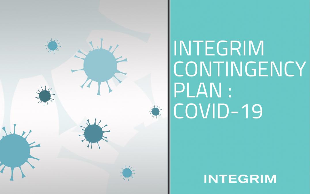 INTEGRIM Contingency Plan : COVID-19