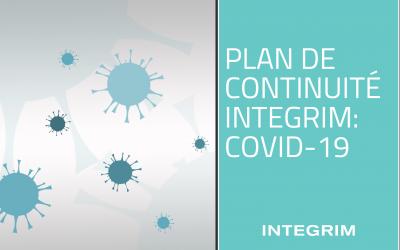 Plan de continuité INTEGRIM: COVID-19